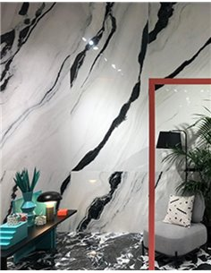 160x80cm Black Panda / Panda Marble Hi-Gloss tiles (mirror finish) / 5 faces / EUEF-2126