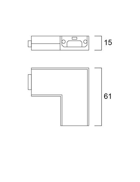 CONVENIO FLAT CORNER WHITE 12V