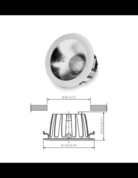 4W -NO GLARE LED SPOT Downlight