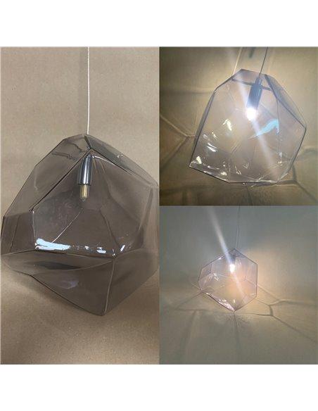 250x225mm, color grey/black , cable 2m transparent +G9 LED