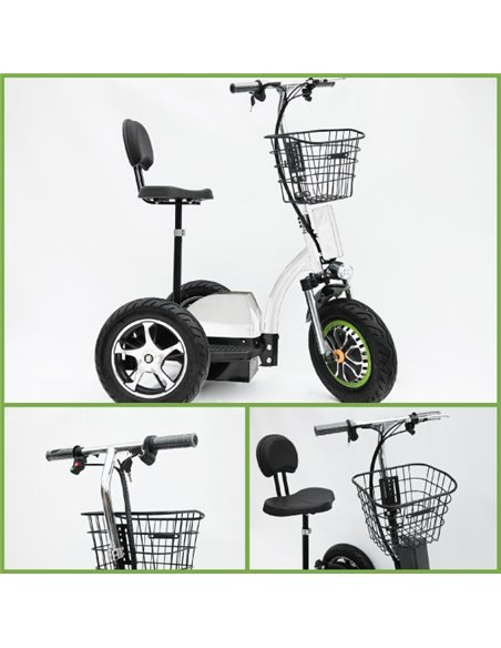 Made in Latvia. VISIONAL Electric Trike Black (VSS-3449) / Powerful Battery / 500W