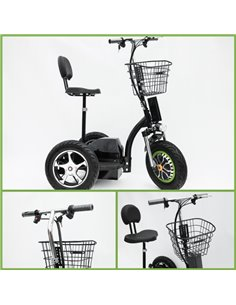 Made in Latvia. VISIONAL Electric Trike White (VSS-3456) / Powerful Battery / 500W