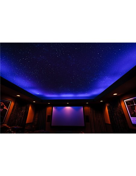 LED Starry Sky. 200 LED RGB Diodes Multi-color with remote control. On a width of 1-2m2