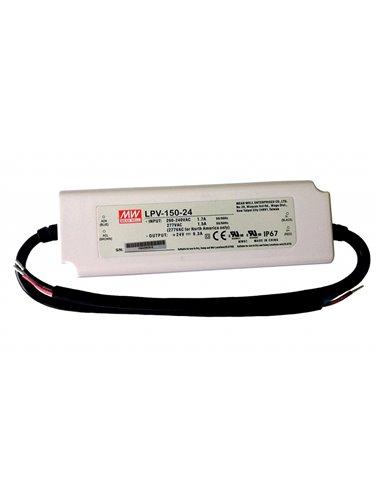 Pulse Power Supply LED 24V 6.3A IP67 Mean Well LPV-150-24