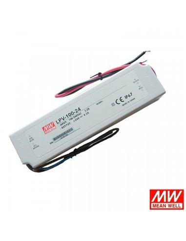 Pulse Power Supply LED 24V 4.2A IP67 Mean Well LPV-100-24