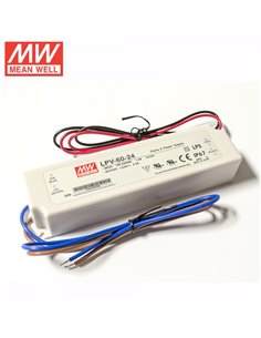 Pulse Power Supply LED 24V 2.5A IP67 Mean Well LPV-60-24