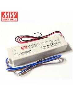 Pulse Power Supply LED 24V 2.5A IP67 Mean Well LPV-60-24