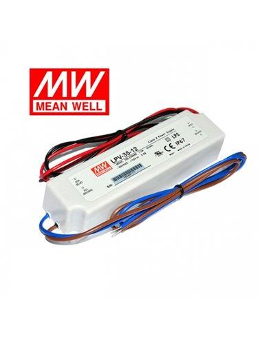 Pulse Power Supply LED 24V 1.5A IP67 Mean Well LPV-35-24