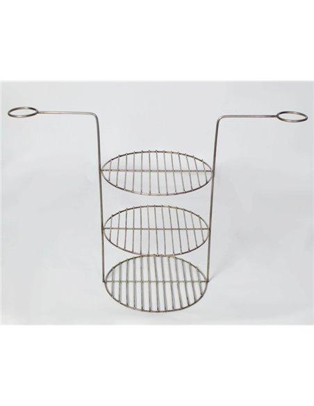 Ceramic stove - tandirs Asia DARK BROWN 100 liters. Gift - Decorative ceramic tile - tray / 12 skewers / meat hook