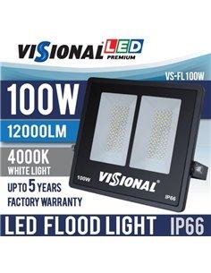 SUPER SALE / VISIONAL PREMIUM LED Outdoor Spotlight 100W / 12000lm / 4000k - 840 / MELNS / 120 ° / IP66 (Moisture Resistant) / N
