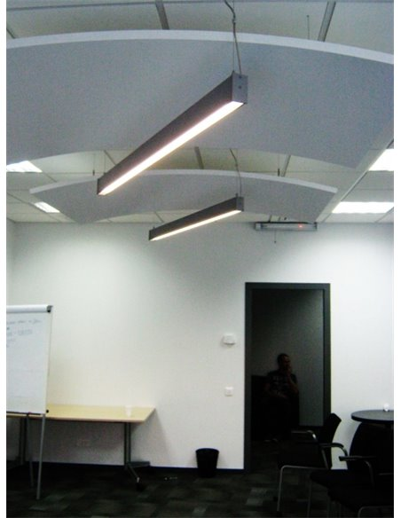 LED panel / ceiling lamp. LED Thin Linear Luminaire 18W / 1440 Lumen / 60cm / 4000K / LED Suspended Lamp IP-34