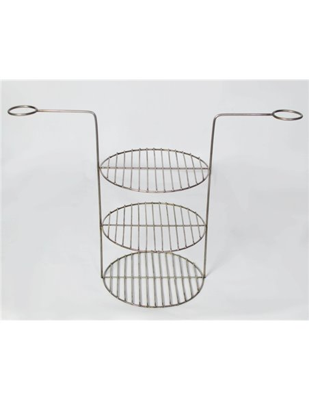 Ceramic Furnace - Tandirs GREECE WHITE GIFT - Decorative Ceramic Tile - Tray / 12 Skewers / Meat Hook / Grid with 3 L