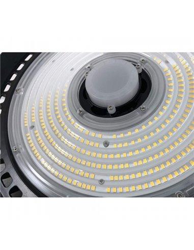 LED Освещение для складов, сервисов, спорт-залов  HIGH BAY UFO - 200W  / DIMMABLE 1-10V  / 33000lm / 4000K / MICROWAVE INDUCTION