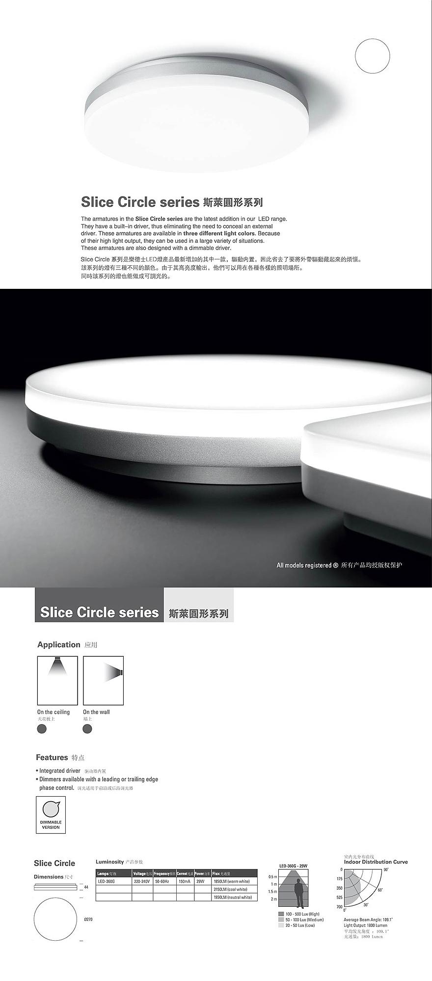 Slice Circle downlightLEDeshi