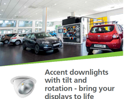 Accent downlights with tilt and rotation - bring your displays to life